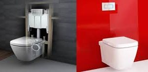 فروش انواع سرویسهای رنگی چینی بهداشتی والهنگ توالت فرنگی روشویی وکابینت های ضد اب
